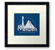 Disney Mordor Framed Print