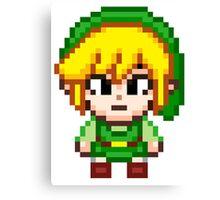 Toon Link - Smash Bros Mini Pixel Canvas Print