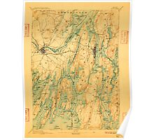 Maine USGS Historical Map Bath 807366 1894 62500 Poster