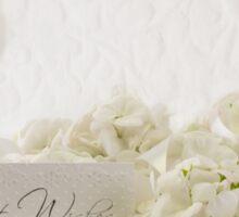 White Geraniums Still Life Best Wishes Sticker