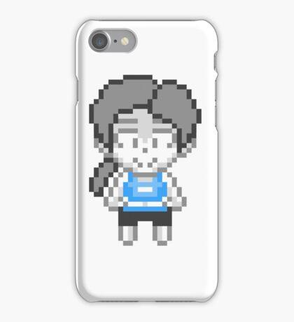 Wii Fit Trainer - Smash Bros Mini Pixel iPhone Case/Skin
