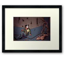 Cry in Silent Hill Framed Print