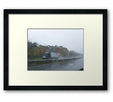 Weather Advisory Framed Print