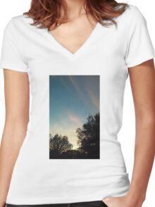 Florida Sunset Women's Fitted V-Neck T-Shirt