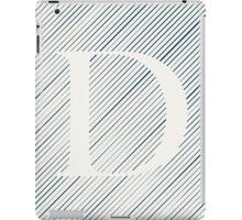 Striped D iPad Case/Skin