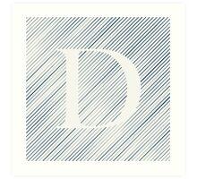 Striped D Art Print
