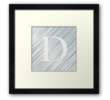 Striped D Framed Print