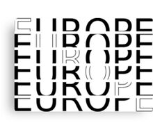 EUROPE TYPOGRAPHY Canvas Print