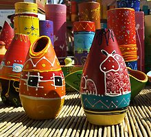 Handmade colorfull pottery by f28photo