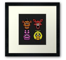 Five Nights at Freddy's 1 - Pixel art - The Classic 4 Framed Print