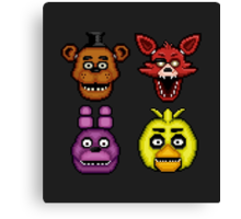 Five Nights at Freddy's 1 - Pixel art - The Classic 4 Canvas Print