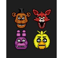 Five Nights at Freddy's 1 - Pixel art - The Classic 4 Photographic Print