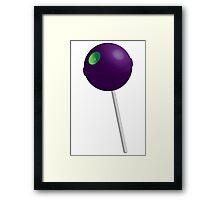 Death Star Lollipop (Purple) Framed Print