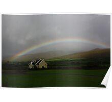 Rainbow over Dingle area, Ireland Poster