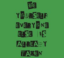 Be Yourself- Oscar Wilde by BookConfessions
