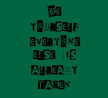 Be Yourself- Oscar Wilde Womens Fitted T-Shirt
