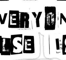 Be Yourself- Oscar Wilde Sticker