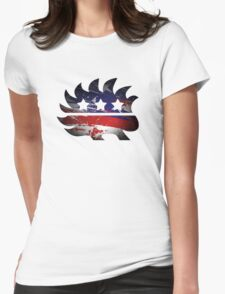 Libertarian Porcupine Womens Fitted T-Shirt