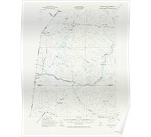 Maine USGS Historical Map Beaver Pond 460170 1955 62500 Poster