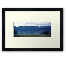 Panormaic view near Yarra Junction Framed Print
