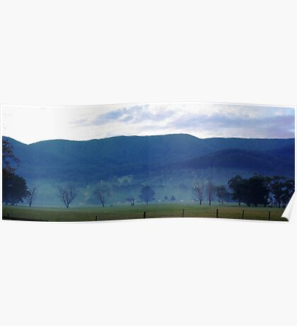Panormaic view near Yarra Junction Poster