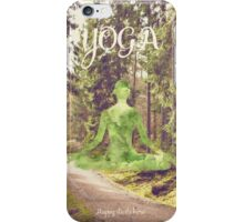 Yoga Forest Book iPhone Case/Skin