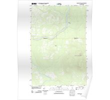 Maine USGS Historical Map Beaver Pond SE 20110906 TM Poster