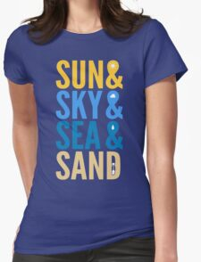 Sun Sky Sea And Sand Womens Fitted T-Shirt