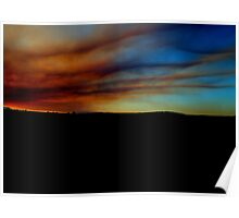 Country Town Sunset #3 Poster