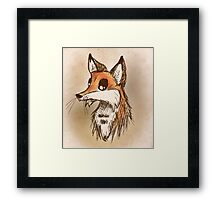 Fox Drawing Framed Print