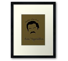 Les Vegetables. More Happiness.  Framed Print
