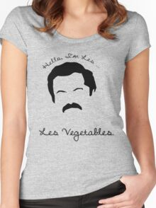 Les Vegetables. More Happiness.  Women's Fitted Scoop T-Shirt