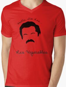 Les Vegetables. More Happiness.  Mens V-Neck T-Shirt