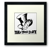 Persona 5: Take your hearth - Transparent Framed Print