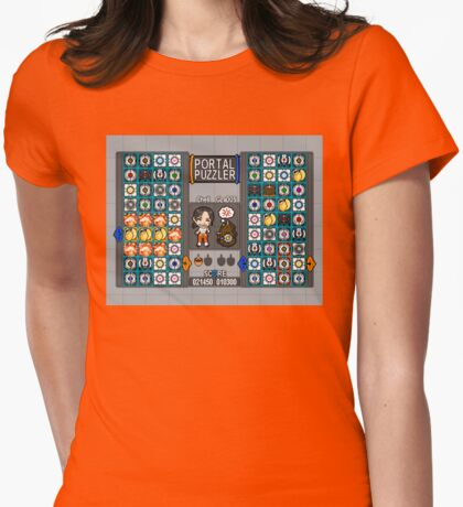 Portal Puzzler Womens Fitted T-Shirt