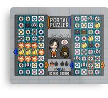 Portal Puzzler Metal Print