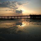 Sunset_Southend pier by daveyt