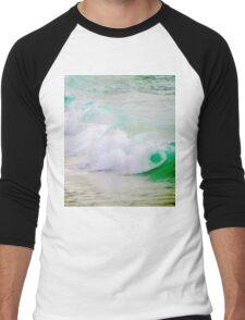 Waves Crashing The Surf Men's Baseball ¾ T-Shirt