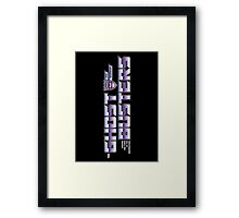 TF Ghostbusters (Choose The Form) Blk Framed Print