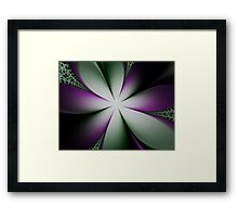 Purple and Green Flowers Framed Print