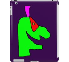 Weird green guy iPad Case/Skin