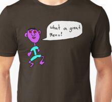 What a great menu Unisex T-Shirt