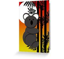Koala Bear Sunset Greeting Card