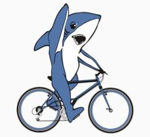 Bicycle Riding Left Shark  by EthosWear