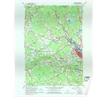 Maine USGS Historical Map Belfast 806497 1960 24000 Poster