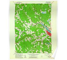 Maine USGS Historical Map Belfast 806499 1960 24000 Poster