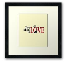Swan Queen - Two idiots in love Framed Print