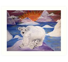 The Polar Bears Art Print