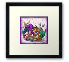 [Tea Cup Dragons] Lily Couple Framed Print