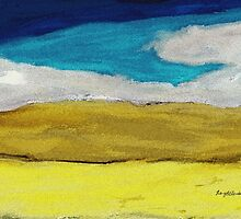 Azure and Prussian Blue of Gold and Yellow Hue by RoyAllen Hunt